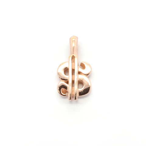 $ Sign Charm 18k Rose Gold Plated
