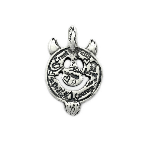 30th Anniversary Graffiti Happy Face with Horns Charm