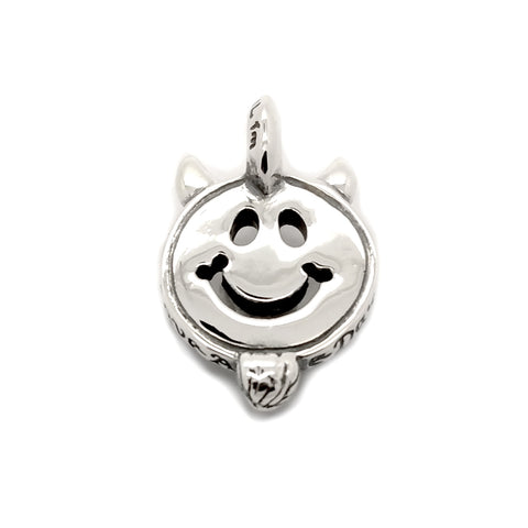 30th Anniversary Happy Face with Horns and Goatee Charm