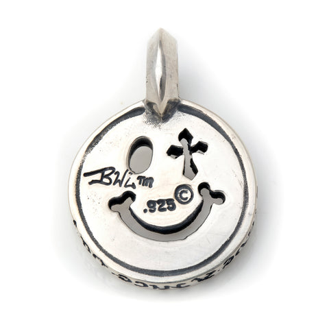 Happy Face with Cross Eye Charm