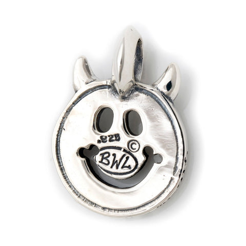 Happy Face Graffiti with Horns Charm