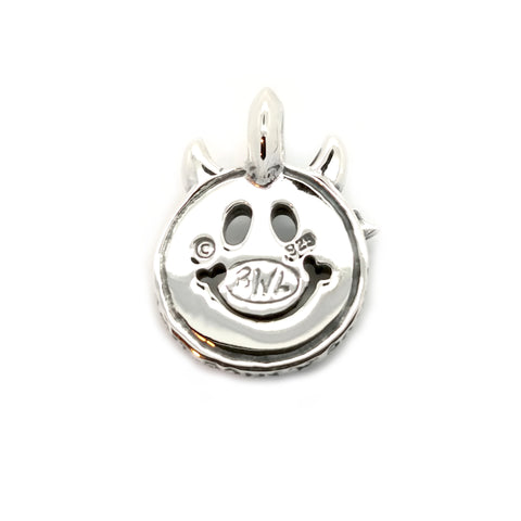 Happy Face with Horns Charm Custom