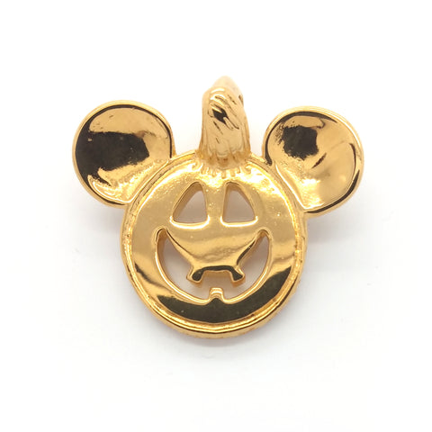 Happy Face Charm -Pumpkin w/Ears 18k Gold Plated