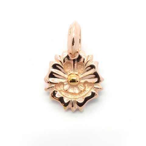 Happy Face Charm -Cherry Blossom 18k Rose Gold Plated