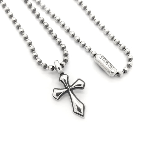 Cross Charm with Ball Chain