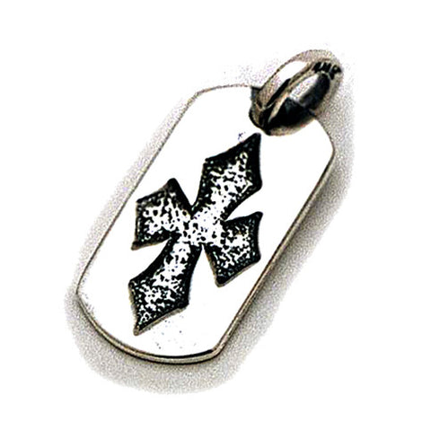 Embossed C Cross Dog Tag