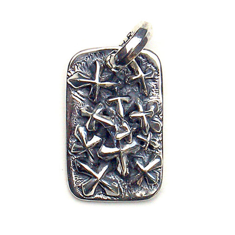 Lucky Cross Dog Tag