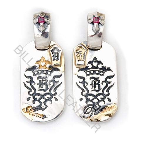 """B"" Crown Dog Tags"