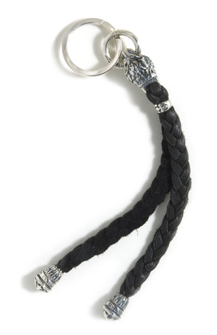 Animal Head (medium) with Leather Braid Key Chain