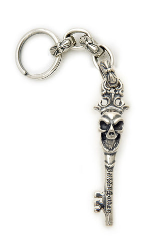 Good Luck Skull Key with Immortal Cross Link Key Chain