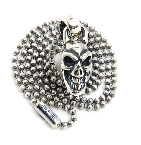 Mini Skull Charm with 2mm Ball Chain