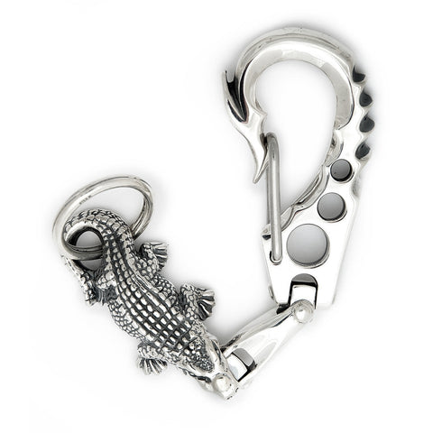 Fish Hook Clip with 1 Smooth U-Joint Link and XL Alligator Key Chain