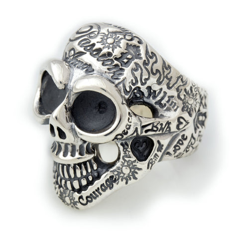 Medium Graffiti Master Skull Ring