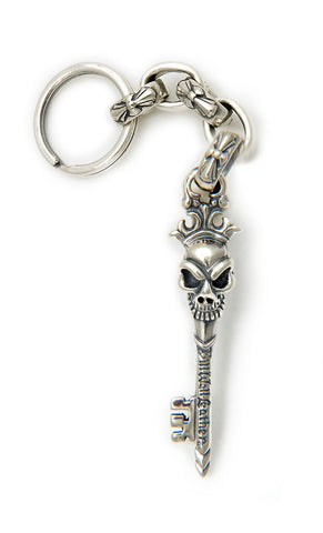 Half Skull Key with Immortal Cross Link Key Chain