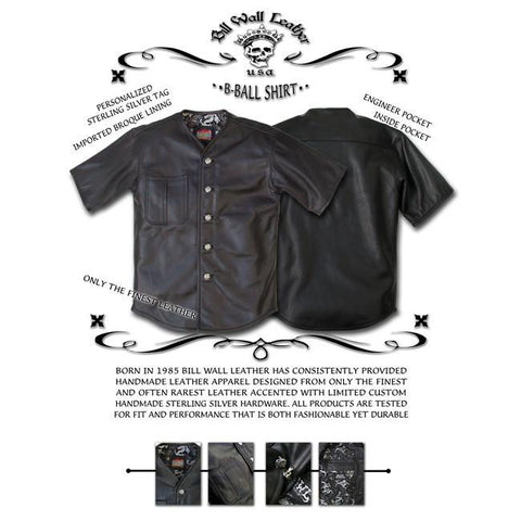 Leather Baseball Shirt