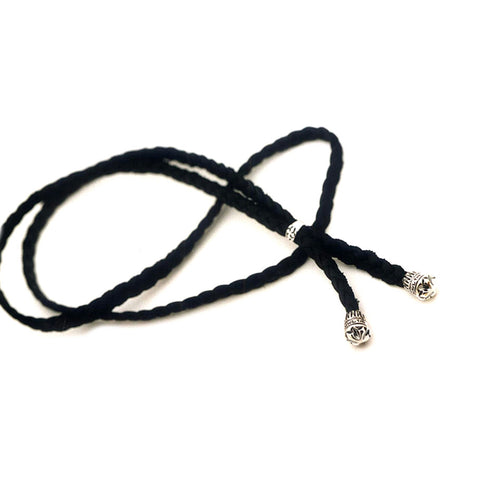 Braided Leather Bolo