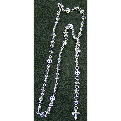 Multi Link Necklace with Cross Fob