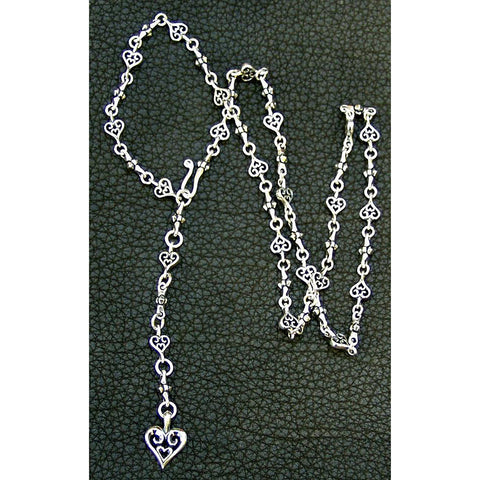 Small Cross Heart Necklace