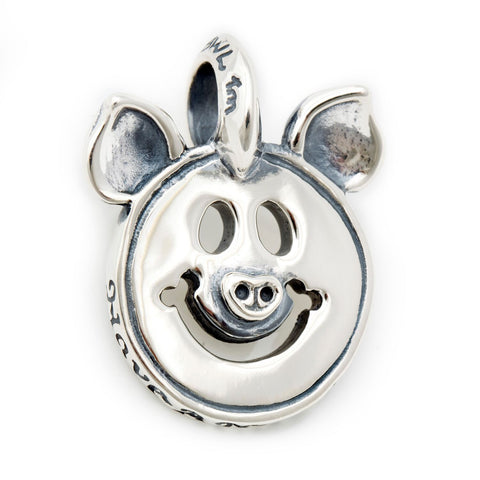 Happy Face Charm with Pig Ears