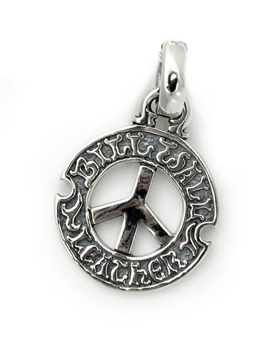 Circle Logo with Peace Sign Pendant