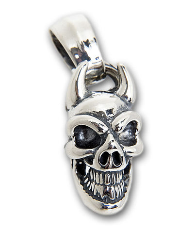 Demon Good Luck Skull Pendant