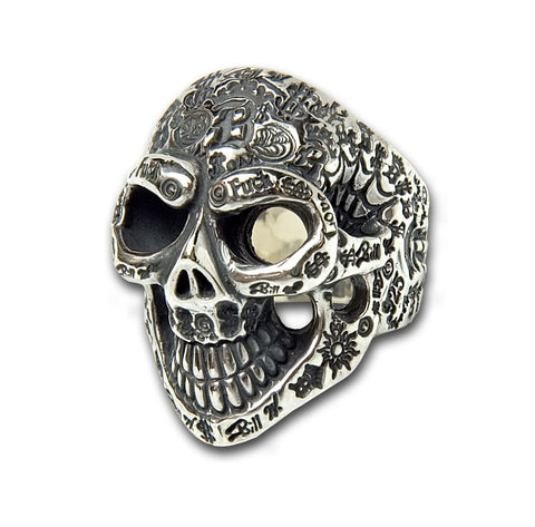 Graffiti Master Skull Ring
