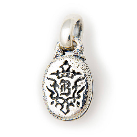 Oval B Crown Pendant