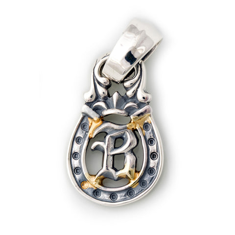 "Horseshoe Pendant ""B-INITIAL"" Top - Large"