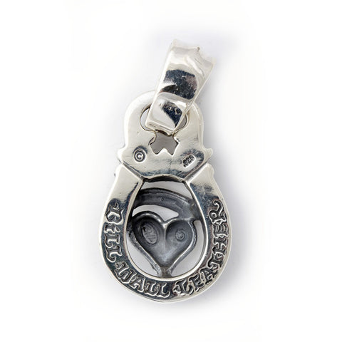 "Horseshoe Pendant ""HEART with Banner"" Top - Large"