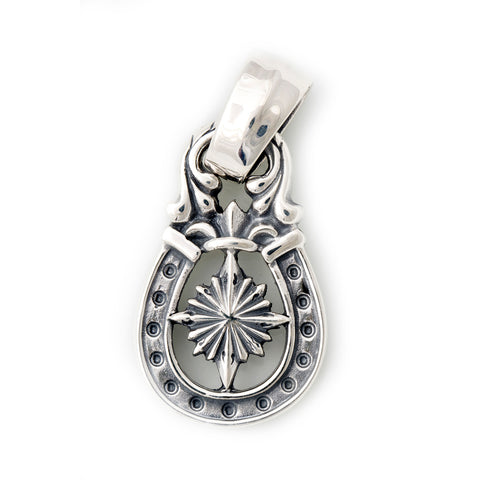 "Horseshoe Pendant ""NAUTICAL STAR"" Top - Large"