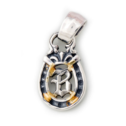 "Horseshoe Pendant ""B-INITIAL"" Top - Medium"