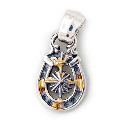 "Horseshoe Pendant ""NAUTICAL STAR"" Top - Medium"