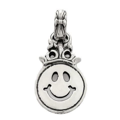 Happy Face Crown with Immortal Cross Bale Pendant