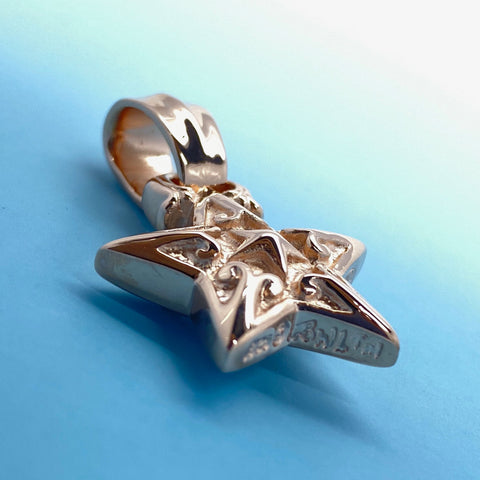 Double Star Pendant 18k Rose Gold Plating
