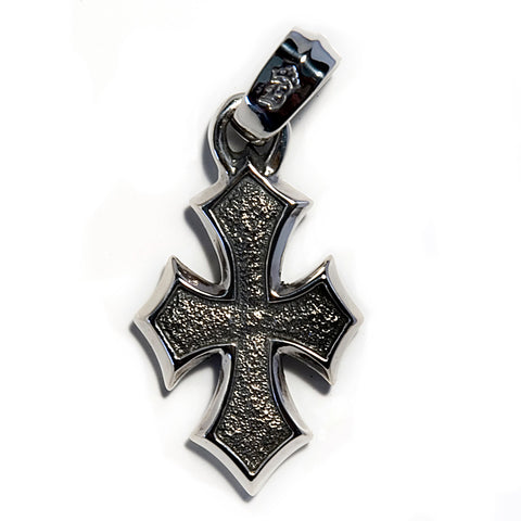 """C"" Cross Pendant with Heavy Leather Cord"
