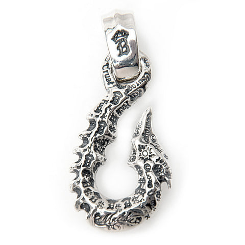 Graffiti Fish Hook Pendant