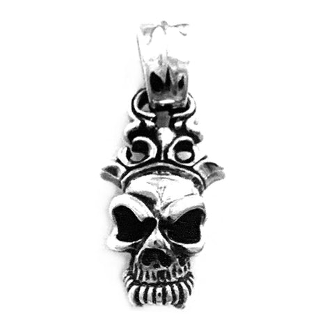 Half Skull with Crown Pendant