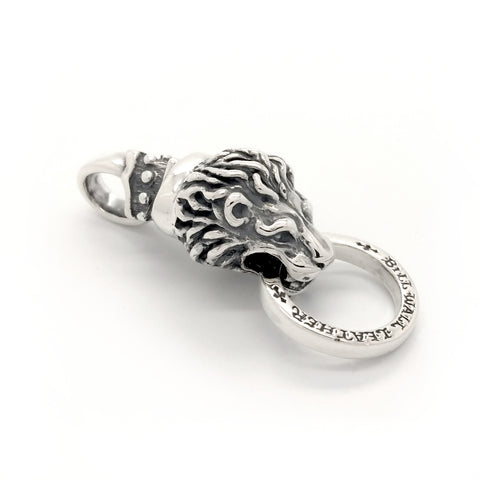 Lion with Collar and Spacer Ring Pendant