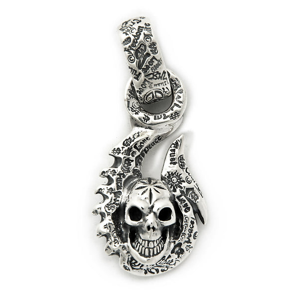 329704773be8 Graffiti Fish Hook with Vintage Skull and Mid Star Pendant - Bill Wall  Leather
