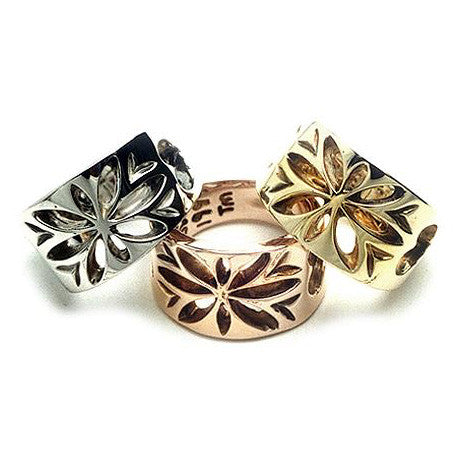 18k Gold Compass Rose Ring