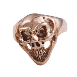 18K Small Good Luck Skull Ring
