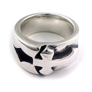 Inlaid Cross Ring