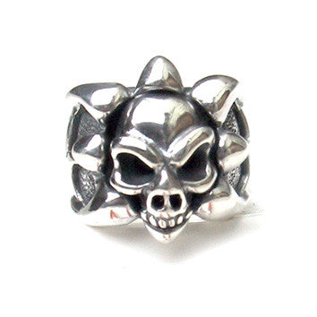Tribal Band Ring with Skull