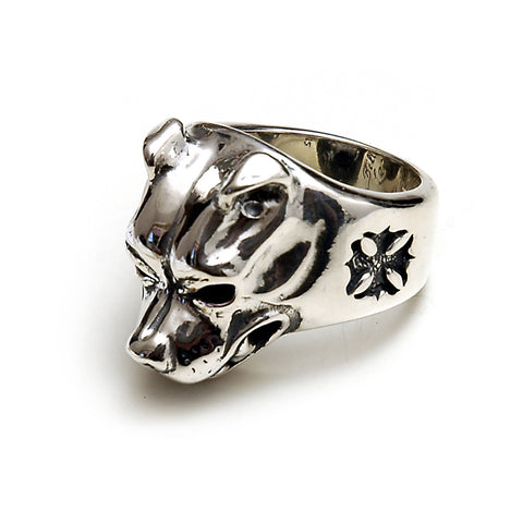 Large Dog Head Ring
