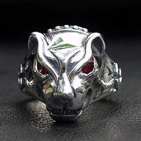 Large Panther Ring with Stone Eyes