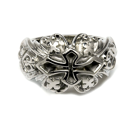 18k 20th Gothic Cross Ring