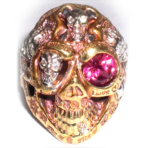 Super Custom Graffiti Skull Ring 22K (Deposit)