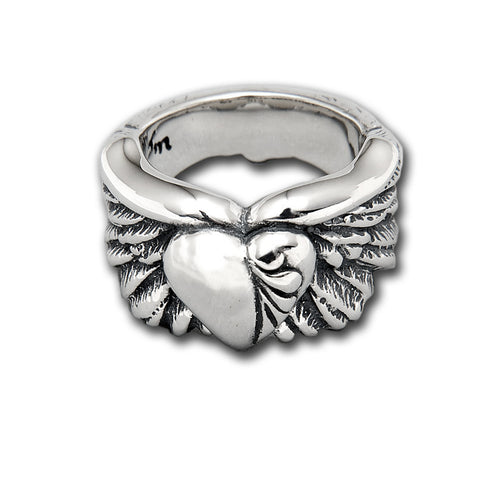 Wing with Heart Ring