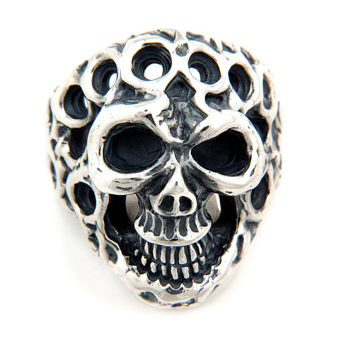 Medium Master Skull with Holes Ring