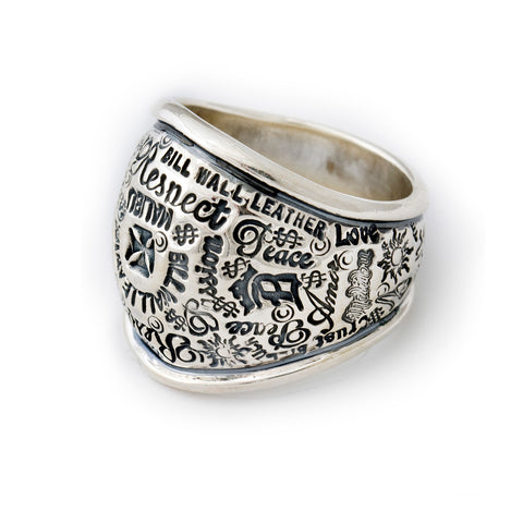Graffiti Dome Ring